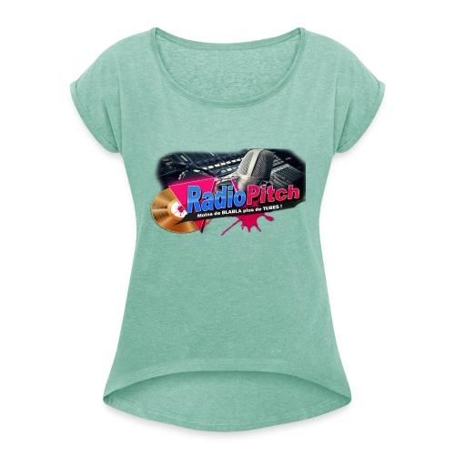 LOGO RADIOPITCH - T-shirt à manches retroussées Femme