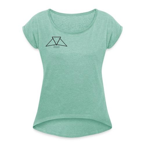 KEAB - T-shirt med upprullade ärmar dam