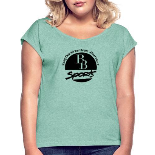 BB Sports Logo ohne Link - Frauen T-Shirt mit gerollten Ärmeln
