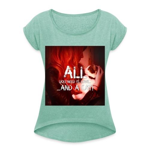 test2 jpg - Frauen T-Shirt mit gerollten Ärmeln