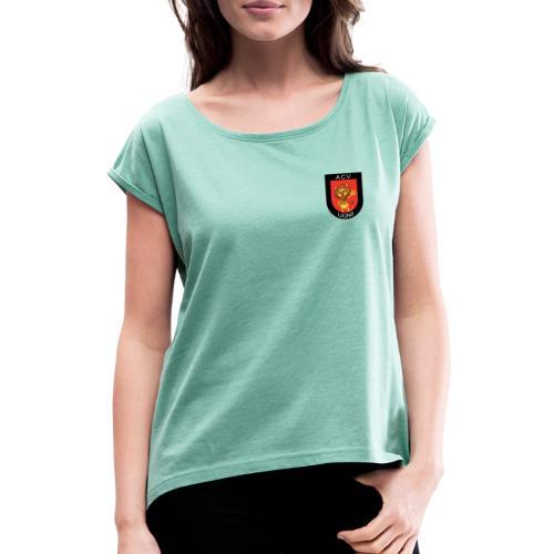 Lions logo - Frauen T-Shirt mit gerollten Ärmeln