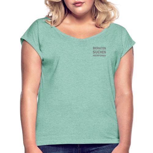 K-9 Tiersuche Nord e.V. - Frauen T-Shirt mit gerollten Ärmeln
