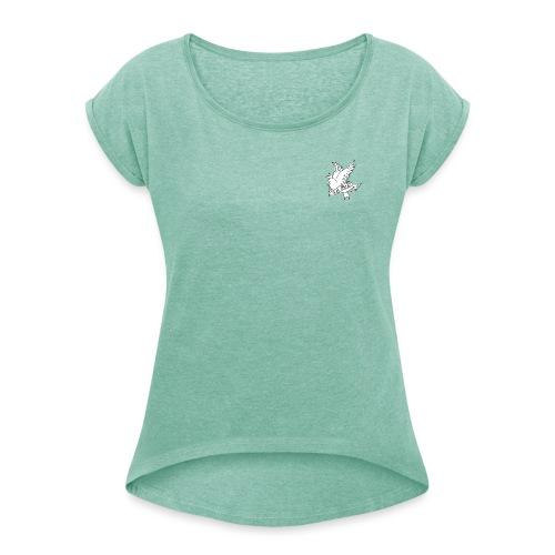 CRY BABY - T-shirt med upprullade ärmar dam