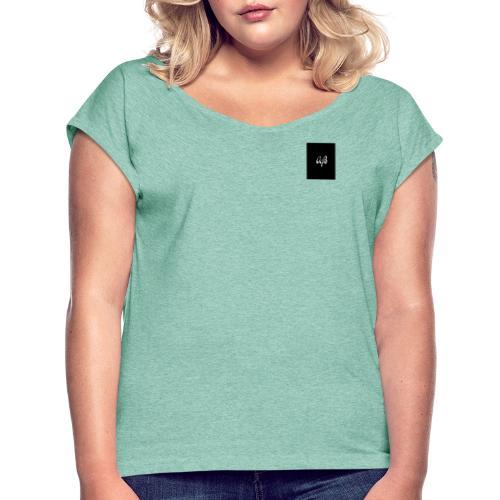 AjB - Camiseta con manga enrollada mujer