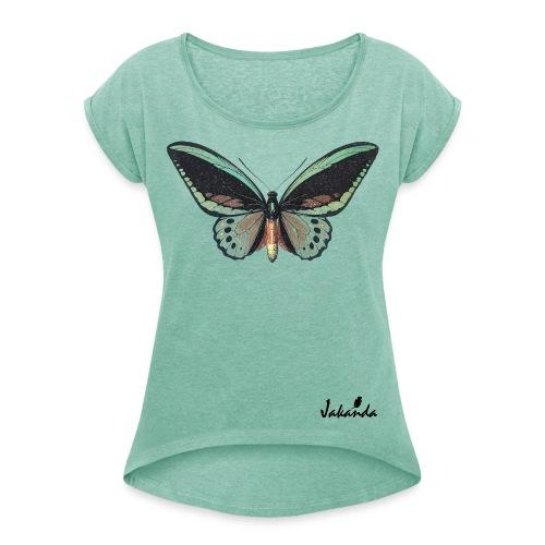 logo jakanda ii - Frauen T-Shirt mit gerollten Ärmeln
