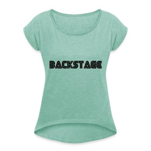 backstage - T-shirt à manches retroussées Femme