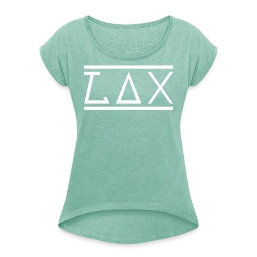 LAX WHITE LOGO KOMBI - Frauen T-Shirt mit gerollten Ärmeln