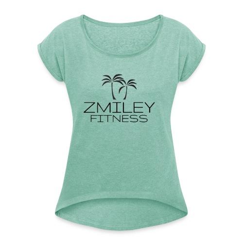 Zmiley Fitness - Camiseta con manga enrollada mujer