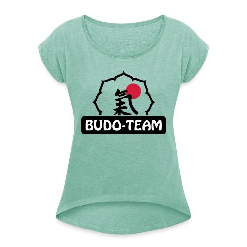 Budo-Team Design - Frauen T-Shirt mit gerollten Ärmeln