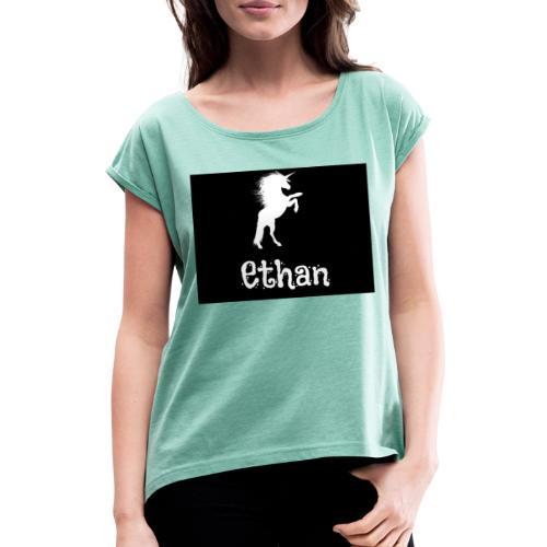 Ethan - T-shirt à manches retroussées Femme