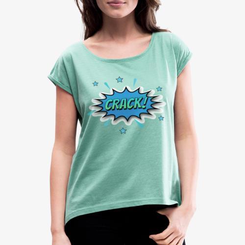 Dibujos Animados 01 - Camiseta con manga enrollada mujer
