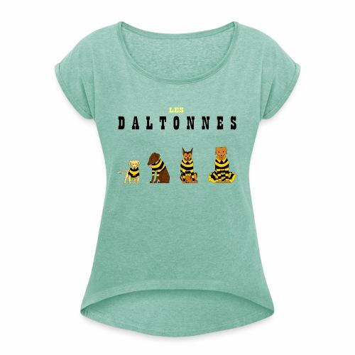 Les Daltonnes - T-shirt à manches retroussées Femme