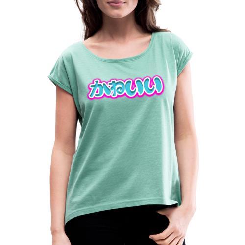 Logo Kawaii ! - T-shirt à manches retroussées Femme