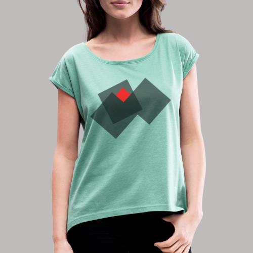 grid - Women's T-Shirt with rolled up sleeves
