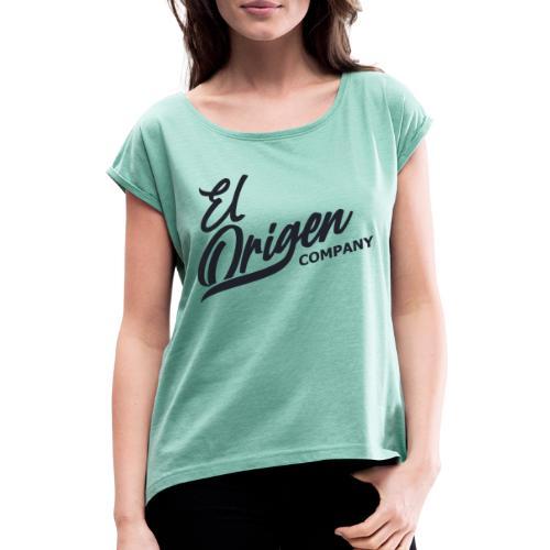 Logoblack - Camiseta con manga enrollada mujer
