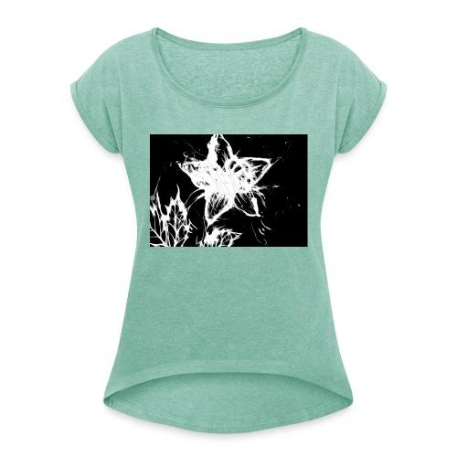 3 - Vrouwen T-shirt met opgerolde mouwen