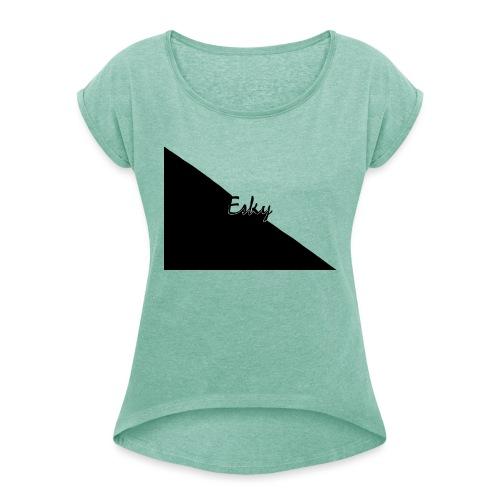 Esky - Maglietta da donna con risvolti