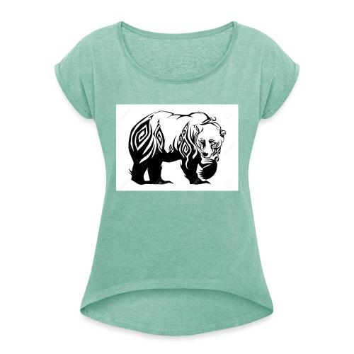 ours - T-shirt à manches retroussées Femme