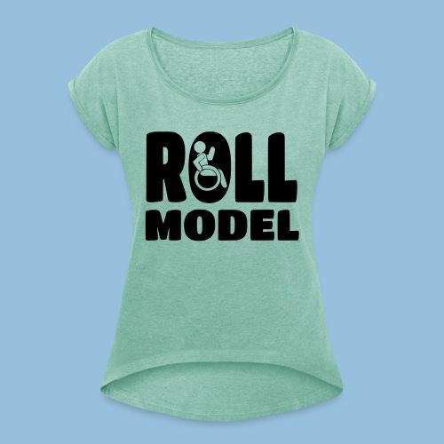 Roll model 016 - Vrouwen T-shirt met opgerolde mouwen