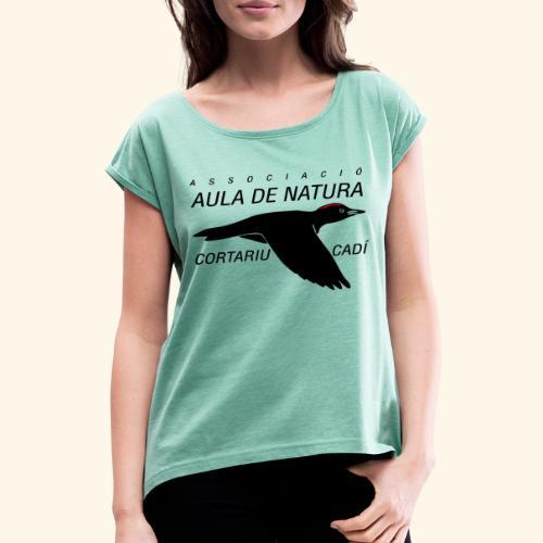 Aula Natura Brand - Camiseta con manga enrollada mujer
