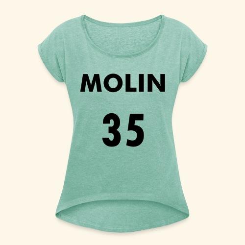 MOLIN 35 - T-shirt med upprullade ärmar dam