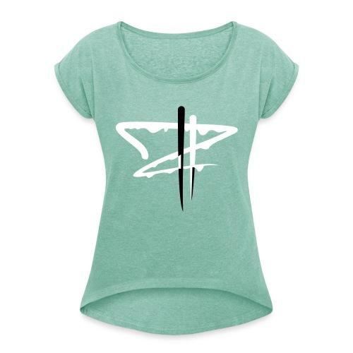 whiteDollar Z - Frauen T-Shirt mit gerollten Ärmeln