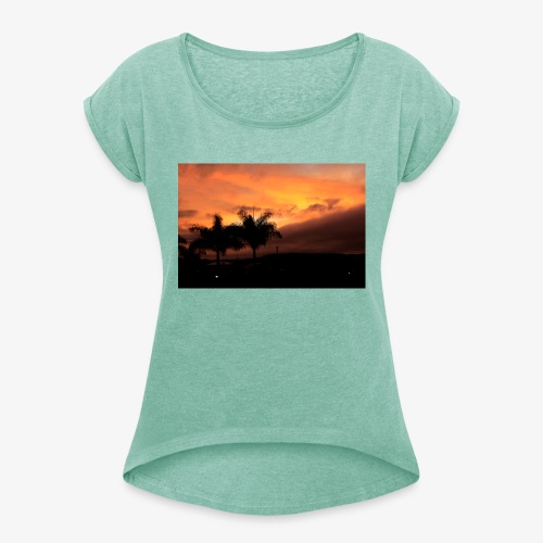 Atardecer - Camiseta con manga enrollada mujer