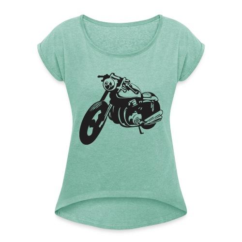 cafe racer 1925498 1280 - Frauen T-Shirt mit gerollten Ärmeln