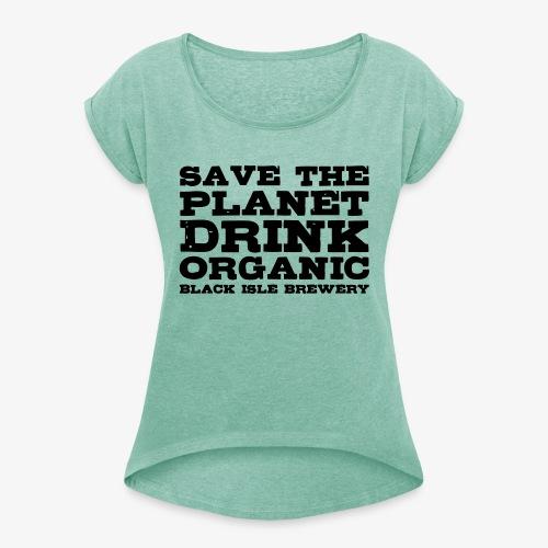 scotlandbrewing2 - Frauen T-Shirt mit gerollten Ärmeln