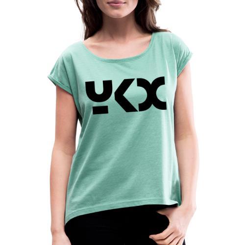 logo yKx - T-shirt à manches retroussées Femme