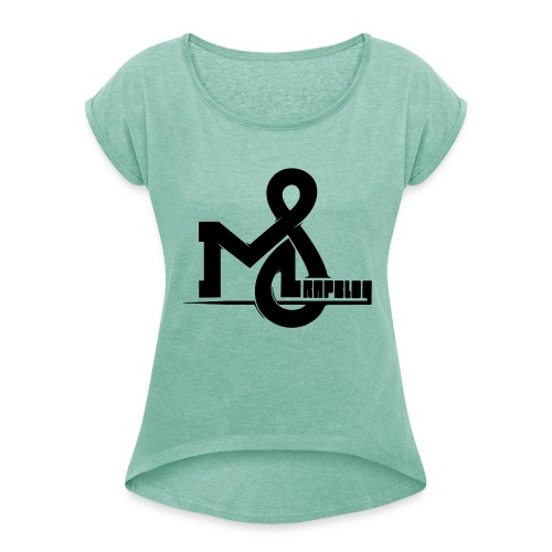 This is a proper design name - Women's T-Shirt with rolled up sleeves