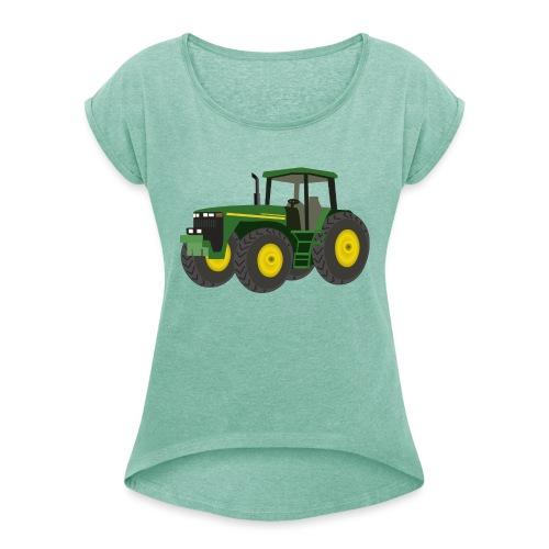 Traktor - Frauen T-Shirt mit gerollten Ärmeln