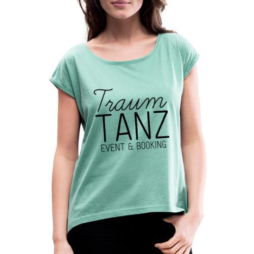 dark logo transparent background - Frauen T-Shirt mit gerollten Ärmeln