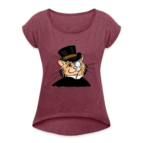 Gatto nonno - Maglietta da donna con risvolti
