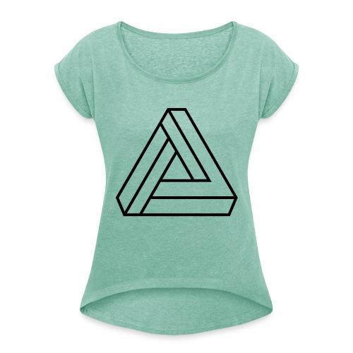 triangulos 1 - Camiseta con manga enrollada mujer