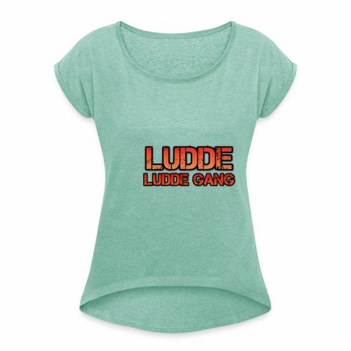 LUDDE GANG - T-shirt med upprullade ärmar dam
