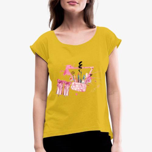 Style - Maglietta da donna con risvolti