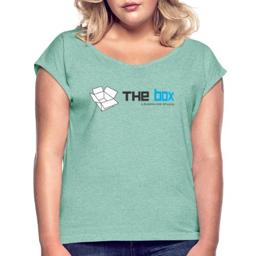 The Box Learning Studio Logo - Women's T-Shirt with rolled up sleeves