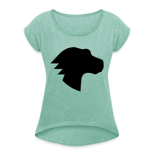 Dino Positive Logo - Women's T-Shirt with rolled up sleeves