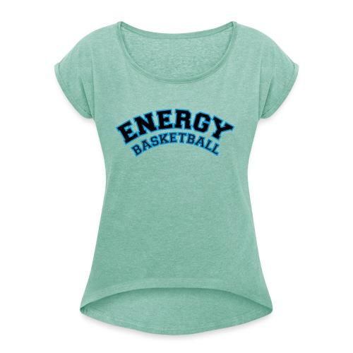 street wear logo nero energy basketball - Maglietta da donna con risvolti