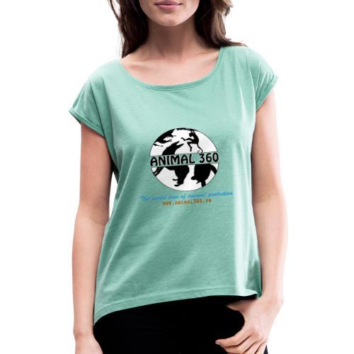 Animal360.fr - T-shirt à manches retroussées Femme
