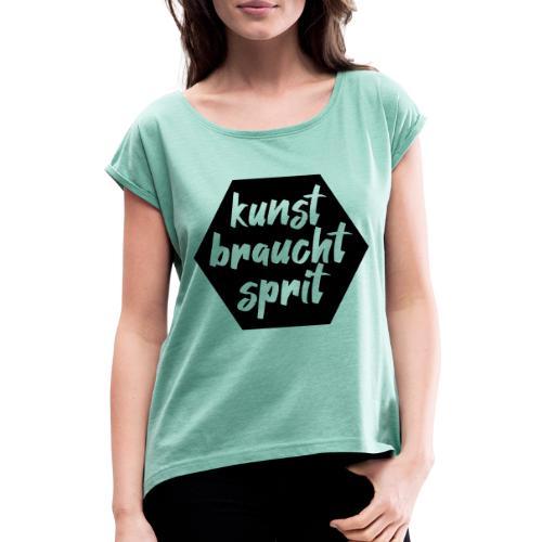 Royal Tassilo Kunst - Frauen T-Shirt mit gerollten Ärmeln