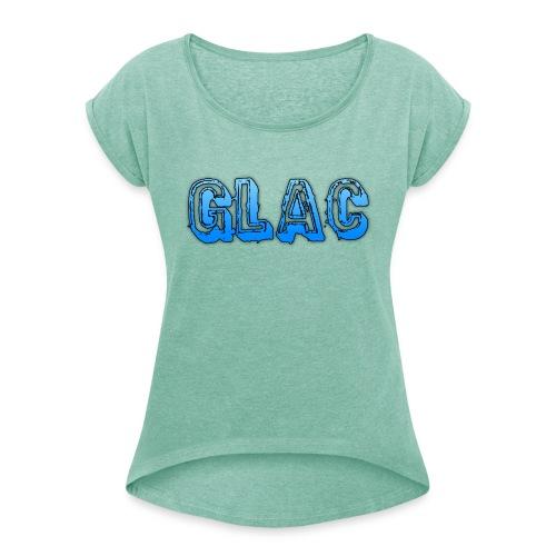 Dam Tröja - T-shirt med upprullade ärmar dam