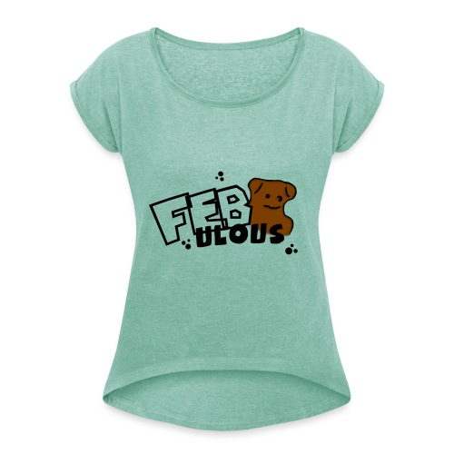 Normal - Women's T-Shirt with rolled up sleeves