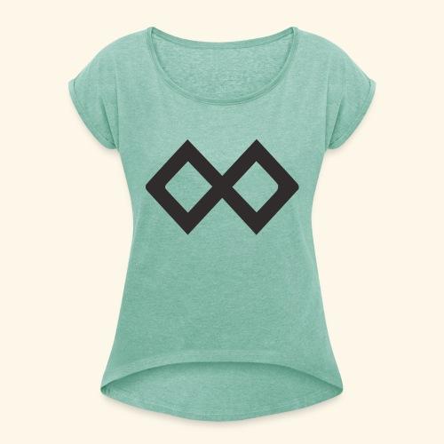 TenX Logo - Frauen T-Shirt mit gerollten Ärmeln
