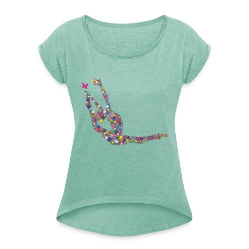 PRIMAVERA GIMNASIA - Camiseta con manga enrollada mujer