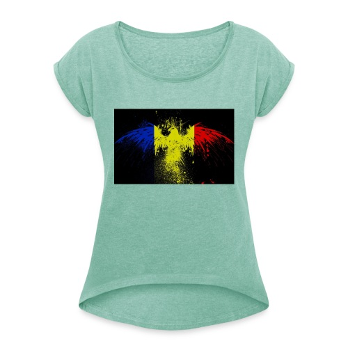 Rumänien - Frauen T-Shirt mit gerollten Ärmeln