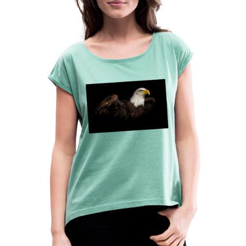 306419 - Frauen T-Shirt mit gerollten Ärmeln