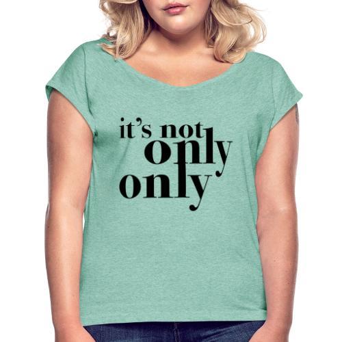 onlyonly - T-skjorte med rulleermer for kvinner