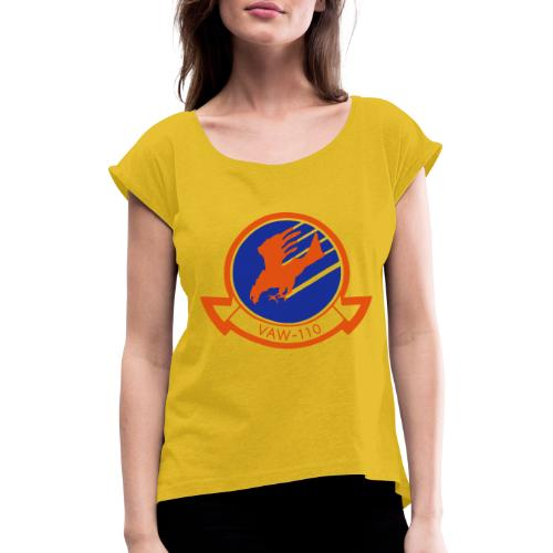 VAW - Women's T-Shirt with rolled up sleeves